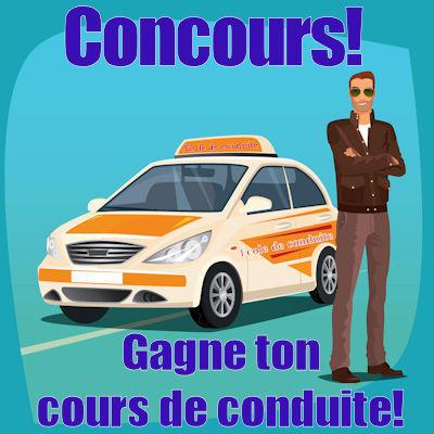 Concours: Gagne ton cours de conduite!