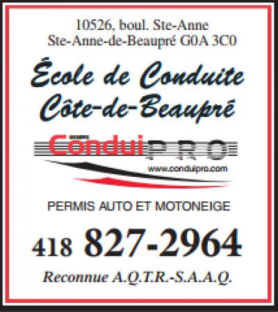 Ecole de conduite ConduiPro Boul Ste-Anne